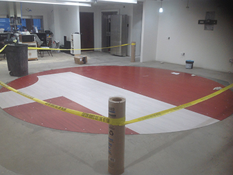 Commercial flooring project by The Floor Shop in Winchester, Virginia