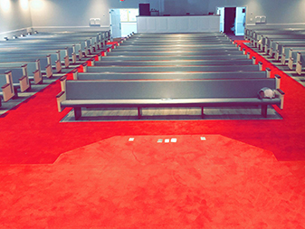 First Baptist Church project by The Floor Shop in Winchester, Virginia