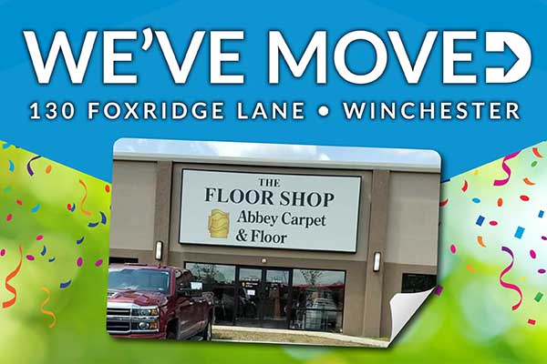 We've Moved! The Floor Shop Abbey Carpet & Floor is now at 130 Foxridge Lane Winchester, Virginia