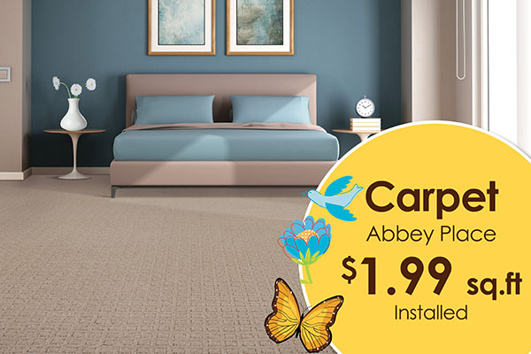 Carpet Abbey Place - $1.99 sq.ft. Installed